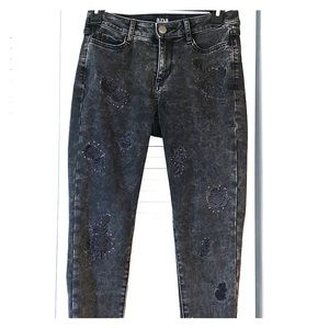 ANA acid wash studded jegging 0